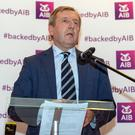 Minister for Agriculture, Food & the Marine, Cork North West TD Michael Creed, addresses the AIB Agri Matters Seminar recently held at the Riverside Park Hotel, Macroom. Picture: John Delea