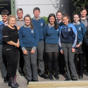 McEgan Transition Year Pupils with their teacher Ms Angland at Trend Micro, Internet Security Company at the Model Farm Road Business and Technology Park in Cork