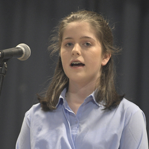 Claire Lyons from Dromtariffe participating in the solo singing