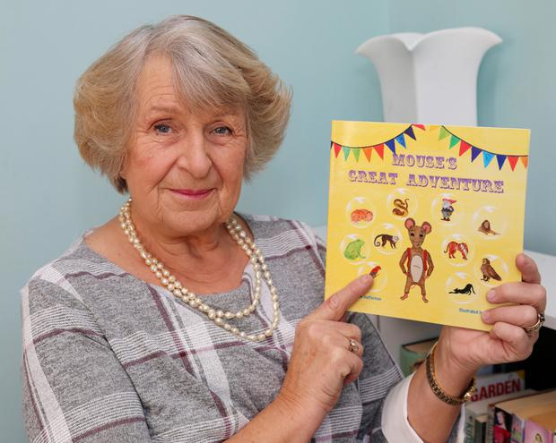 Marion Heffernan with her new Book 'Mouse's Great Adventure'. Photo by Sheila Fitzgerald