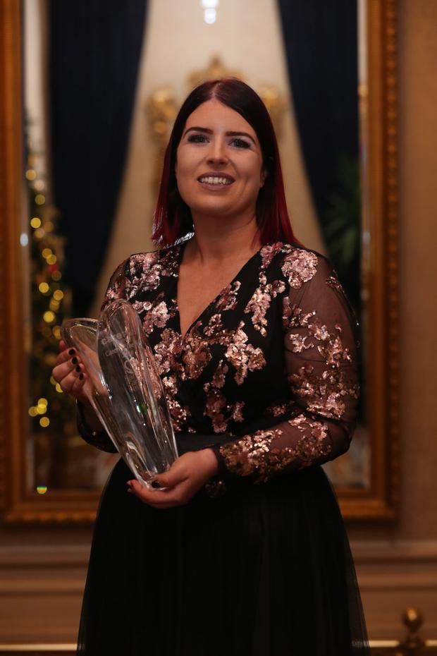 Carer of the Year Brenda O'Connell Barry with her award. Photo by Maxwells