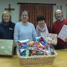 Noirin Brennan (2nd left), President of the St Vincent de Paul Mallow Conference, preparing festive hampers with fellow members Donal Dulohery, Marion Cremin and Sheila Crowley