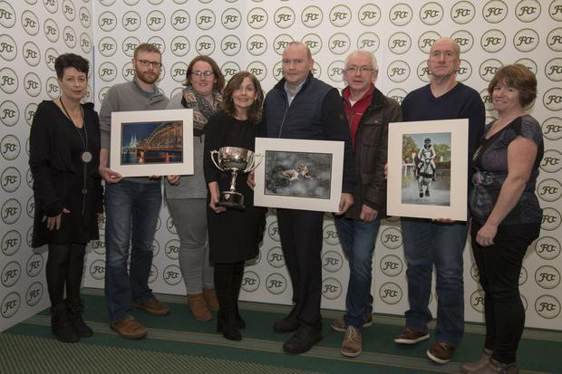 Deirdre Casolani,competition secretary FCC; Conor McCarthy, Neicy Murphy (Cobh Camera Club), Breeda Kiely, Finbar O'Hanlon, Paul O'Dwyer (Cobh Camera Club), Mark Heffernan and Una Finn, chairperson FCC. Photo: Battie Arnold