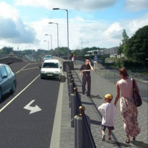 An artist's impression of how the planned Mallow Bridge Boardwalk will look when completed