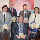 The Mayor of the County of Cork, Cllr Patrick Gerard Murphy, launching 'Europe and the County of Cork: A Heritage Perspective' in with Declan Daly, deputy chief executive; Michael Lynch, director of planning; Cllr Frank O' Flynn and Mona Hallinan, Mary Sleeman and Conor Nelligan of Cork County Council's Heritage Unit