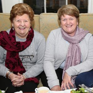 Mary O'Donoghue, Bridie Cronin and Mary Sheahan from Buttevant were all smiles as they posed for the camera during their night out at the The Springfort Hall Hotel