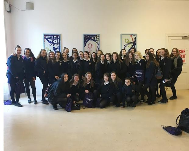 Transition Year students of St Mary's, Macroom, who attended the 'IWISH' science fair