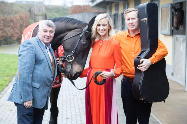 Chef Martin Shanahan, Holly Barry of the Barry Group and Paul Keating of The Frank and Walters launching the 'Race and Taste Festival', which will take place at the Cork Racecourse, Mallow in May. Photo: Darragh Kane