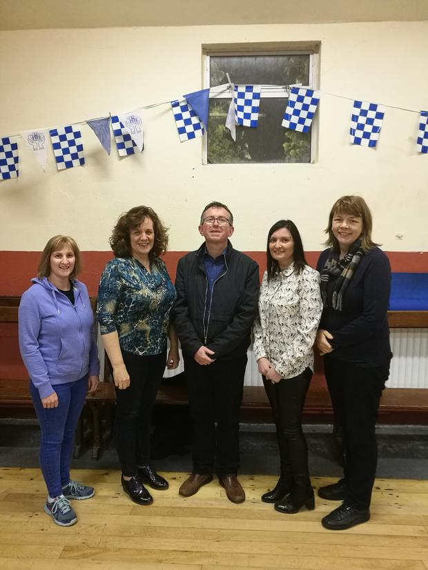 Committee members of Knocknagree Community Group. (From left) Mairead Fleming, Mairead Cronin, Paddy Hickey, Yvonne Brosnan and Noreen McSweeney