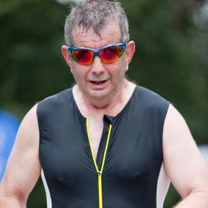 Billy Carr competing in the 2018 Edge Sports Blackwater Triathlon in Fermoy