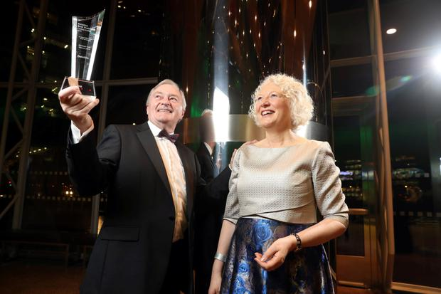 Batt and Helen Arnold of Bartlemy-based company TVM which won the 2019 'Best Managed' accolade at the 2019 Deloitte Best Managed Companies award for the seventh year in succession