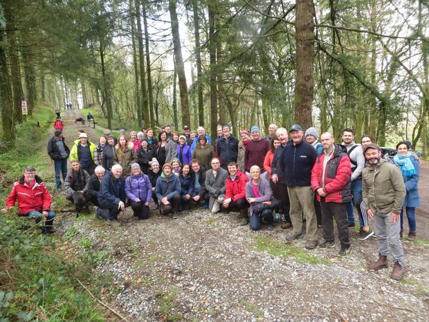 A Tree Week event that took place in Kilmurry last Sunday, led by Ted Cook with close to 60 people in attendance