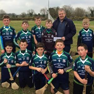 U12 boys are bound for Croke Park and a presentation was made to the lads by Anthony Hennigan on behalf of Mid Cork Electrical at training in Teerbeg recently. The club jerseys have been sponsored by Mid Cork Pallets