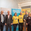 Liam Mullaney, (Board Member, Pieta House), John Drinan (Electric Ireland, DIL Sponsor), Tricia and Gerald O'Sullivan (from Mallow committee), Darran Coyle Garde (Pieta House, Cork) and Elaine Austin (CEO Pieta House)