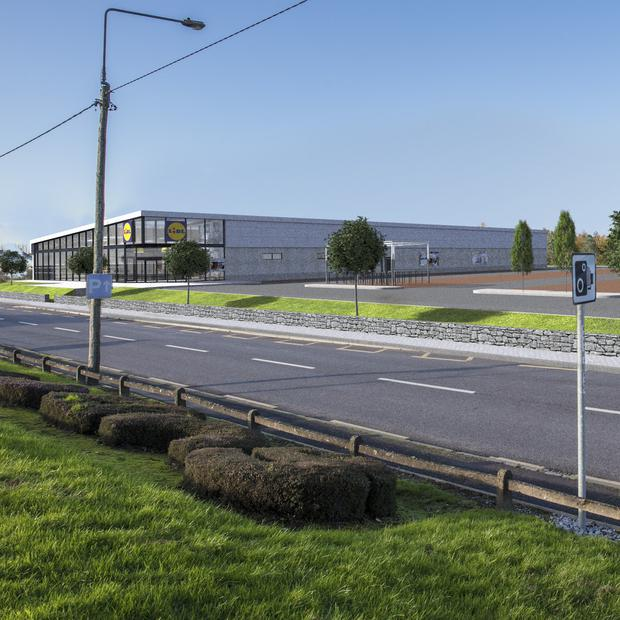 A CGI impression of the planned new expanded Lidl outlet in Fermoy