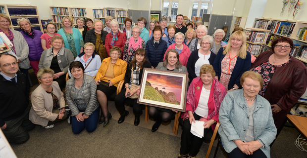 Exhibitors and friends who convened for the official opening of the Millstreet Active Retirement Association art exhibition. Photo: John Tarrant.