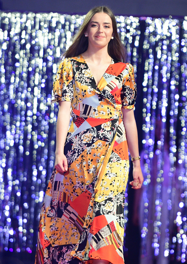 Sarah Linehan added a touch of colour to the Millstreet Community School Fashion Show. Picture John Tarrant