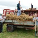 Taking time out at a past Cullen Threshing were John Murphy, Diarmuid Murphy, Pat Halliden and Pat O'Keeffe who are looking ahead to the 21st annual staging. Picture John Tarrant