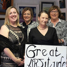 At the official opening of Great ARTitude last Saturday were, from left: Cllr. Liam Madden, gallery co-founder Sandra Sheehan, Cllr. Deirdre O'Brien, gallery co-founder Mary St. Leger, Cllr. Kay Dawson and Cllr. Pat Hayes