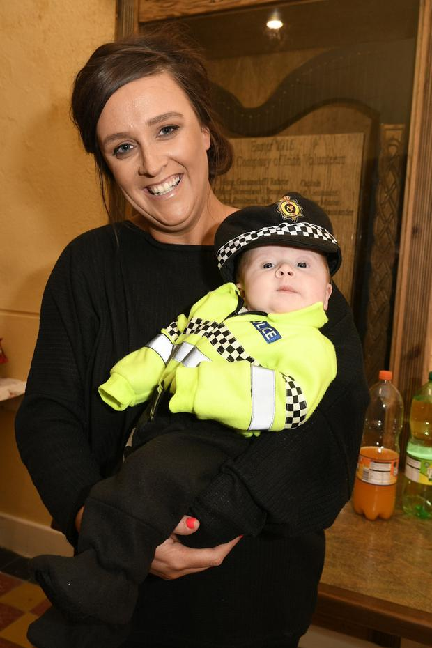 10 week old Maisie Dunne and mum Kathy enjoyed the Aubane Halloween Party. Picture: John Tarrant