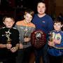 Ballydesmond's Eoghan O'Connor, Timmy Keane, Jack Buckley and Tomas Myers took victory in the senior category and received their prizes from Michael Murphy, Chairman, Dromtariffe Juvenile GAA
