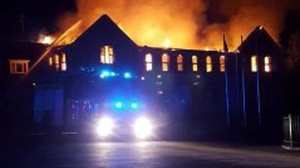 Fire ripped through the Patrician Academy building in 2016