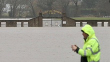 Deluge: The flooded Mallow Town Park on Tuesday