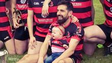 Kevin O'Sullivan pictured with his niece, Sadbh O'Sullivan and the rest of his Newmarket team mates