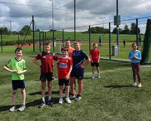 Some of the very happy campers for the West Muskerry AC annual summer camp