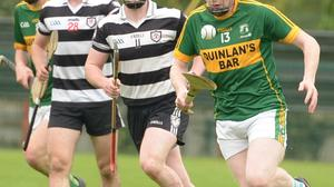 Jack Curtin on the attack for Meelin against Midleton in the Co-Op Superstores County IAHC at Glantane Photo by John Tarrant