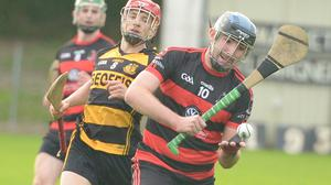 Cathal Browne about to shoot a Newmarket point against Castlemagner in the E Tarrant & Sons Skoda Dealer Duhallow JAHC at Kilbrin Photo by John Tarrant