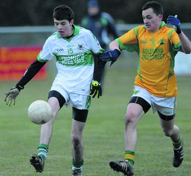 Liam O'Keeffe on the ball for Kanturk against Millstreet in the Duhallow U21AFC semi final at Dromtariffe, Picture John Tarrant
