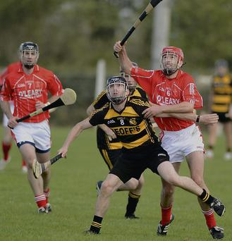 Action from the Tullyllease and Castlemagner HAHC semi final in Lismire. Picture: John Tarrant