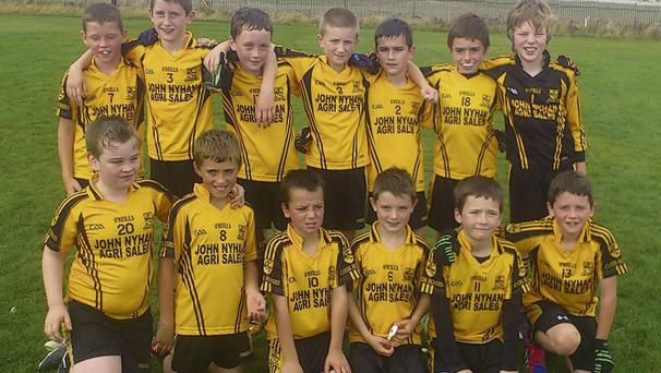 Clyda U10s were back in St Vincent's again this week for a football Blitz