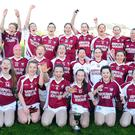 Rockchapel celebrate victory in the County Junior A 13-a-side championship following victory over Bantry Blues
