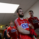 Cork's Colm O'Driscoll leads his side out for the start of the second half Photo by Brendan Moran/Sportsfile