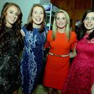 Enjoying the Cork GAA Sports Star Awards were monthly recipients Ashling Hutchings (Fermoy), Rena Buckley (Inniscarra), Briege Corkery (Cloughdubh/St Vals) and Catriona Casey (Ballydesmond). Picture John Tarrant