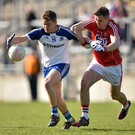 Cork star Kieran Histon in action against Monaghan in the All-Ireland semi-final Photo: Brendan Moran / SPORTSFILE
