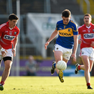 Colin O'Riordan, Tipperary, in action against Barry O'Driscoll, left, and Fintan Goold when they last met in Munster championship action. Photo by Brendan Moran/Sportsfile
