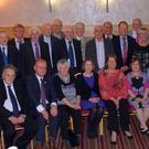At a recent function held in the Hibernian Hotel Mallow the Avondhu senior hurling team, selectors and representatives of 1966 were honoured and presented with a memento to mark the golden jubilee of their win over UCC. Seated, Tim McAuliffe Newtownshandrum (player) Paddy Noonan Castletownroche (player) Diarmuid Gowen Fermoy for his Dad Derry (selector) Peg Sheedy Kilworth for her husband Fred rip (player) Paddy Behan rip Ballyhea (player) represented by his daughter Bridget Colette Collins for her husband Joe rip Liscarrol (player), Phil Regan for her husband Noel rip Mallow (player) Tom Monaghan Kildorrery (player) Richard Browne Castletownroche (player) Billy Fitzgerald Ballyhea (player). Standing; Alan Brennan for his dad Mossy rip (selector) Teddy O'Connor Mallow (player) Noel Keating for his Uncle Jerry Kilworth/South Africa (player) Denis O'Neill for his dad Sonny rip Castletownroche (selector) Christy Morrissey for John Twomey Newtownshandrum/USA (player) Johnny Hogan Kilworth (player) Davy Murphy Castletownroche (player) John Carey Kilworth (player) Jack Russell Ballyhea (player) Sean Long Kilworth (player) Liam Sheehan Mallow (player) Kevin Farrell Castletownroche (player) Declan Ennis for his dad Ray Fermoy (player) John O'Dea Kildorrery (player) Veronica Whyte for her husband John rip Fermoy (player) Eugene Carey for his Uncle Paddy rip (player) Sean Browne for his dad John rip Castletownroche (player) Danny Fenton Kilworth (player) Arthur Coughlan for his dad Pad rip Kilworth (selector) Derry O'Connell Fermoy (player) and Barry Aherne present Chairman Avondhu GAA Board