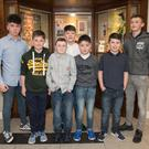 Some of the Buttevant Juvenile GAA U14s who attended last weekend's victory social at the Charleville Park Hotel. Left to right: Niall O'Riordan, Aaron Trimm, Ryan Morrissey, Kyle Bowles, Billy O'Riordan, Adrian Carey and Kyle Trimm. Photos by Eric Barry/Blink Of An Eye