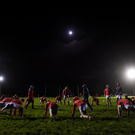 Cork players warm up before the start of the the McGrath Cup Round 1 match between Tipperary and Cork at Templetuohy, Co. Tipperary. Photo by Matt Browne/Sportsfile