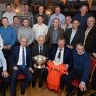 Members of the Duhallow team and management from the 1990/91 Co. Senior Football Championship winning side pictured at a special get together in Kilbrin