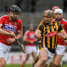 Dean Brosnan of Cork in action against Kieran Joyce of Kilkenny during the Allianz Hurling League Division 1A Round 3 match between Kilkenny and Cork at Nowlan Park. Photo by Ray McManus/Sportsfile