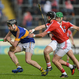 John McGrath of Tipperary in action against Killian Burke of Cork during the Munster GAA Hurling Senior Championship Quarter-Final match between Tipperary and Cork at Semple Stadium last summer. Photo by Dáire Brennan / Sportsfile