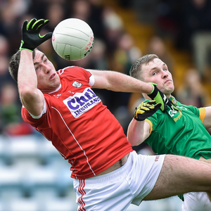 Peter Kelleher of Cork in action against Conor McGill of Meath during the Allianz Football League Division 2 Round 5 match between Cork and Meath at Páirc Uí Rinn in Cork. Photo by Matt Browne / Sportsfile