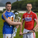 Padraic Maher, left, of Tipperary and Stephen McDonnell of Cork in attendance during the Munster GAA Senior Football & Hurling Championships 2017 launch at Muckross House in Killarney last week. Photo by Brendan Moran/Sportsfile