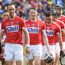 Cork captain Stephen McDonnell leads his team in the pre match parade before the Munster GAA Hurling Senior Championship Semi-Final match between Tipperary and Cork at Semple Stadium in Thurles. Photo by Ray McManus/Sportsfile