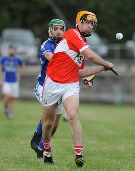 David McAulliffe about to shoot a Banteer point against Kilbrin