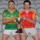 Eric Hegarty, St Michaels and Andrew Cashman, Mallow pictured at a photo shoot in advance of the County Premier Intermediate Football Final which takes place in Pairc Ui Caoimh next Sunday